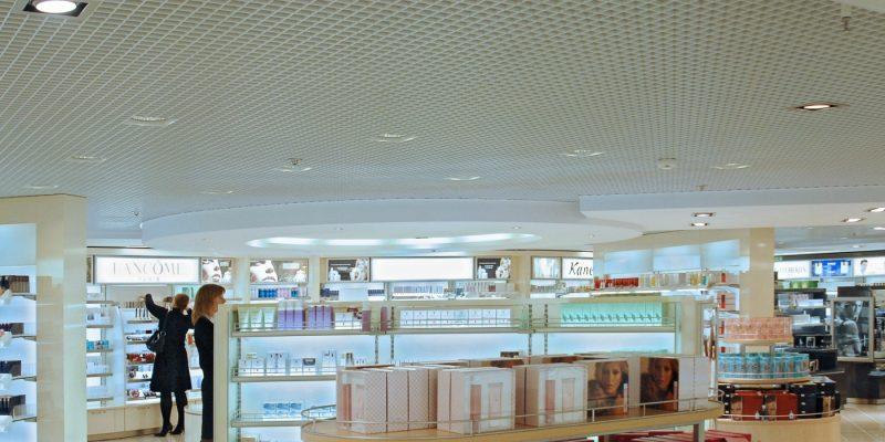 Grating ceilings