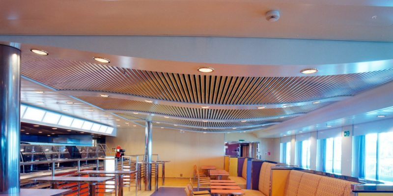 "Free ""rain-fall"" air conditioning in metal ceilings"
